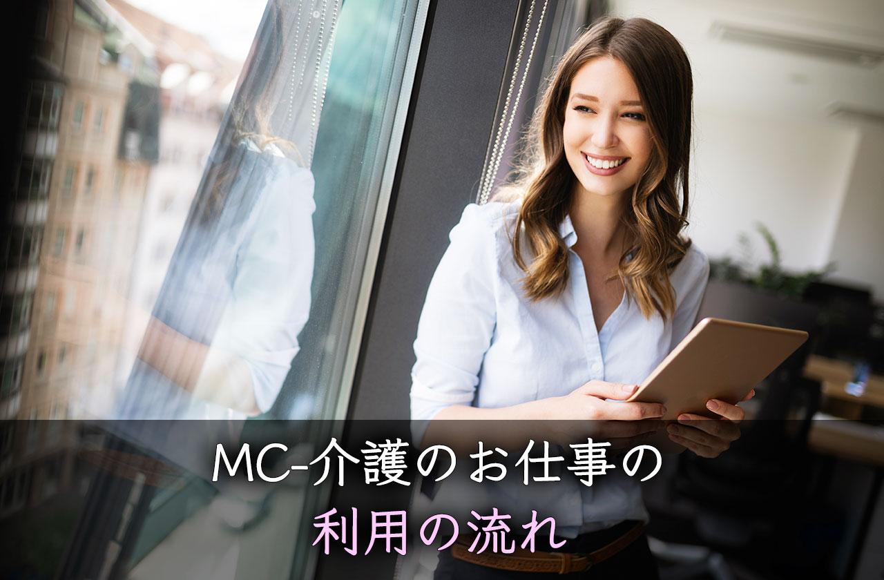MC-介護のお仕事の利用の流れ