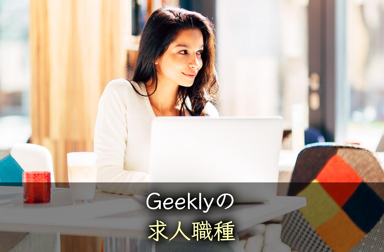 Geekly(ギークリー)の求人の種類