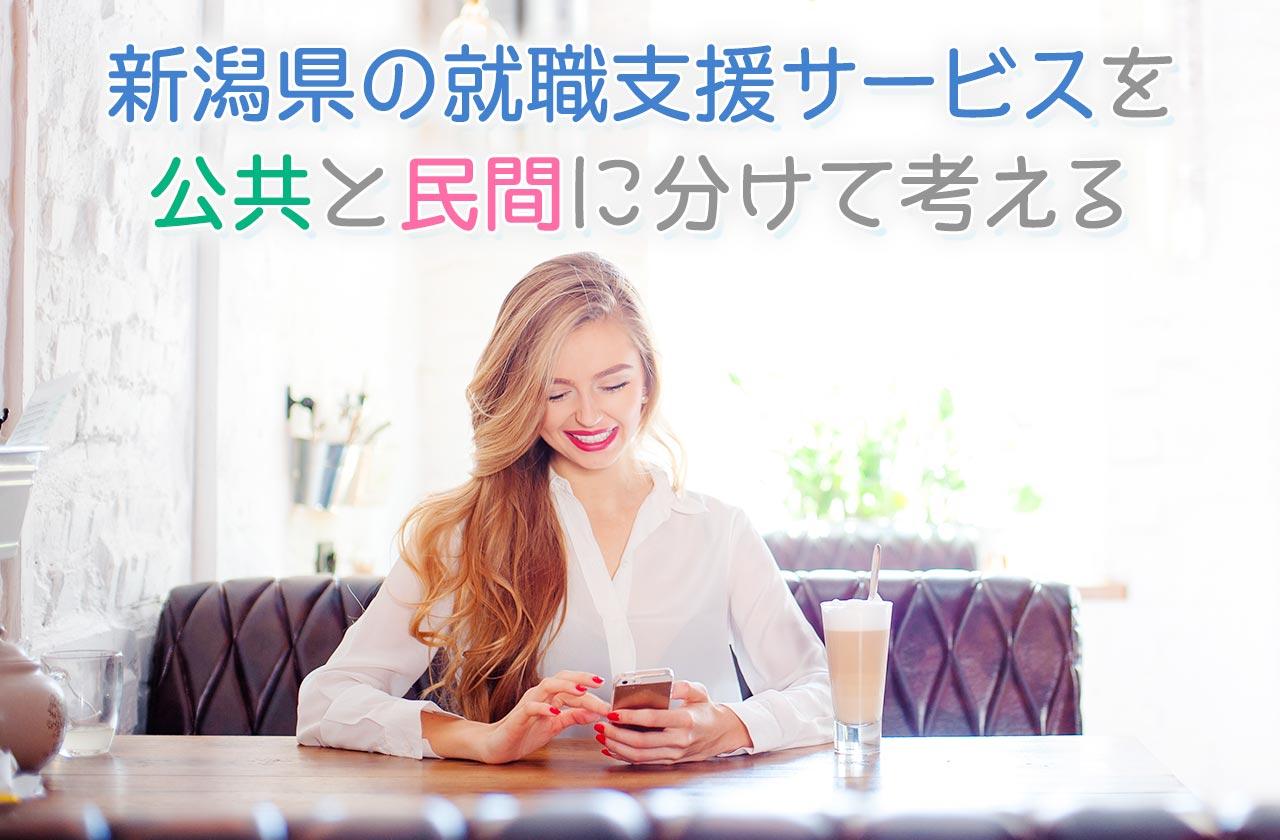 新潟県の就職支援サービスを公共と民間に分けて考える